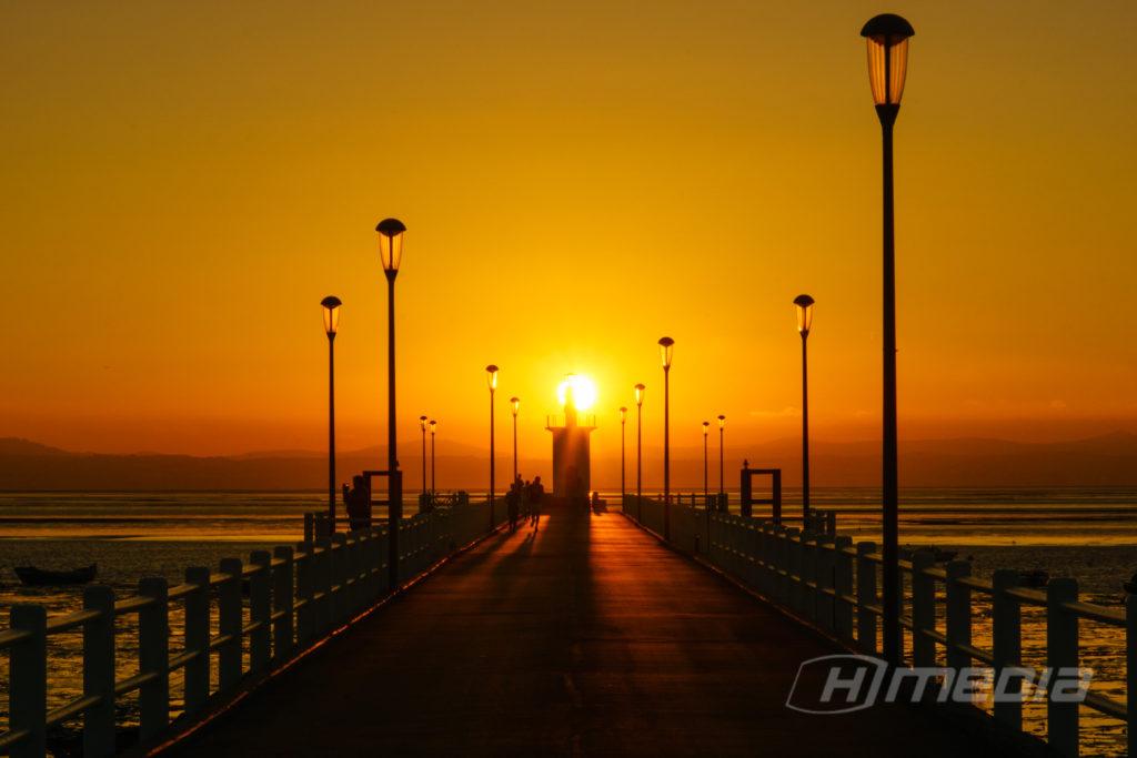 Sonnenuntergang in Alcochete